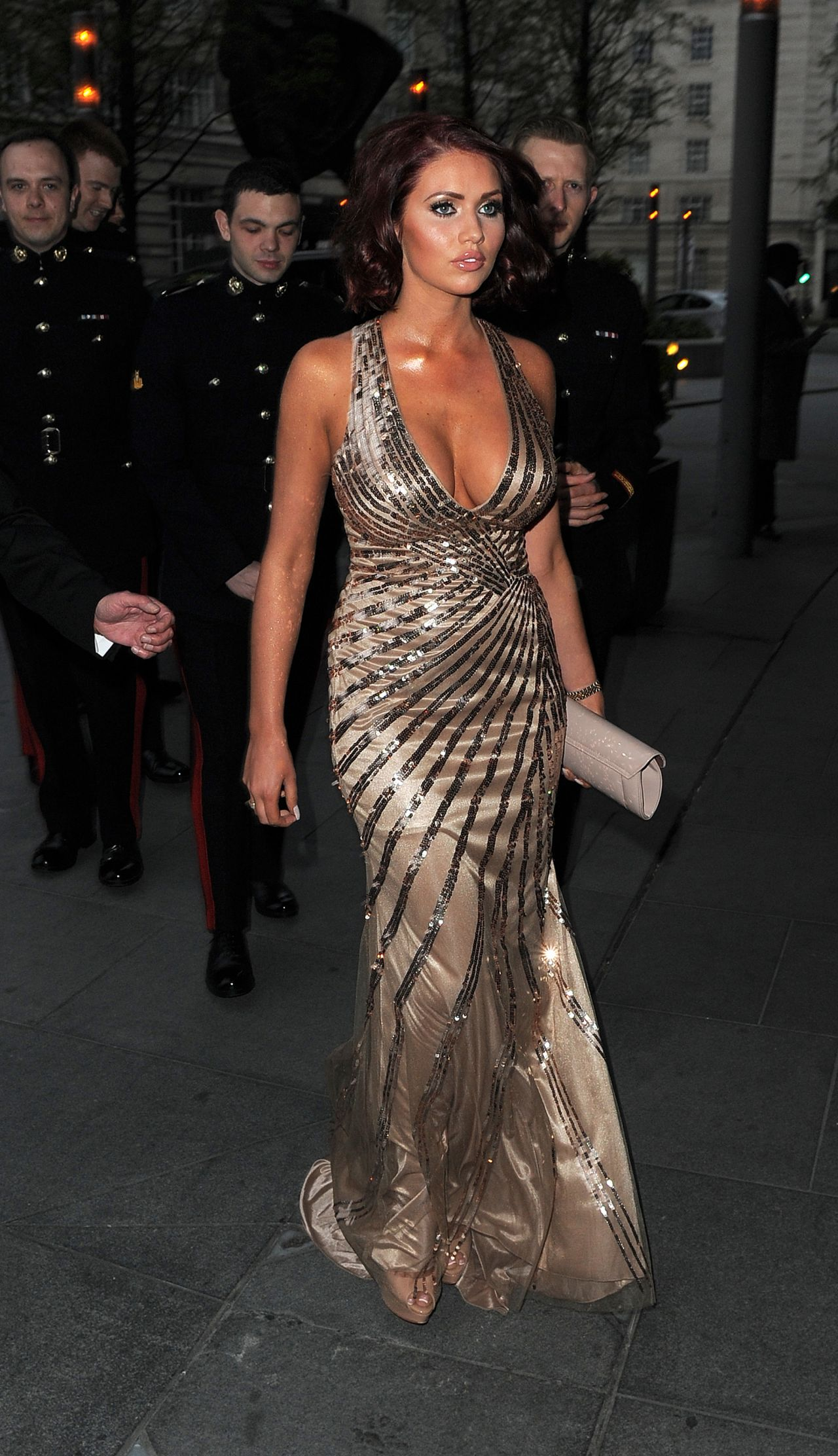Amy Childs in Hot Dress - Soldiering On Awards in London