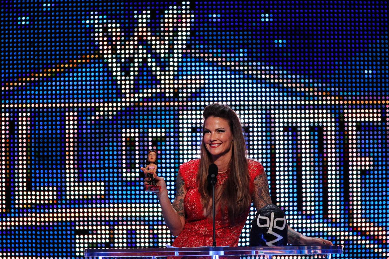 Amy Dumas (Lita) - WWE Hall of Fame Induction Ceremony - April 2014