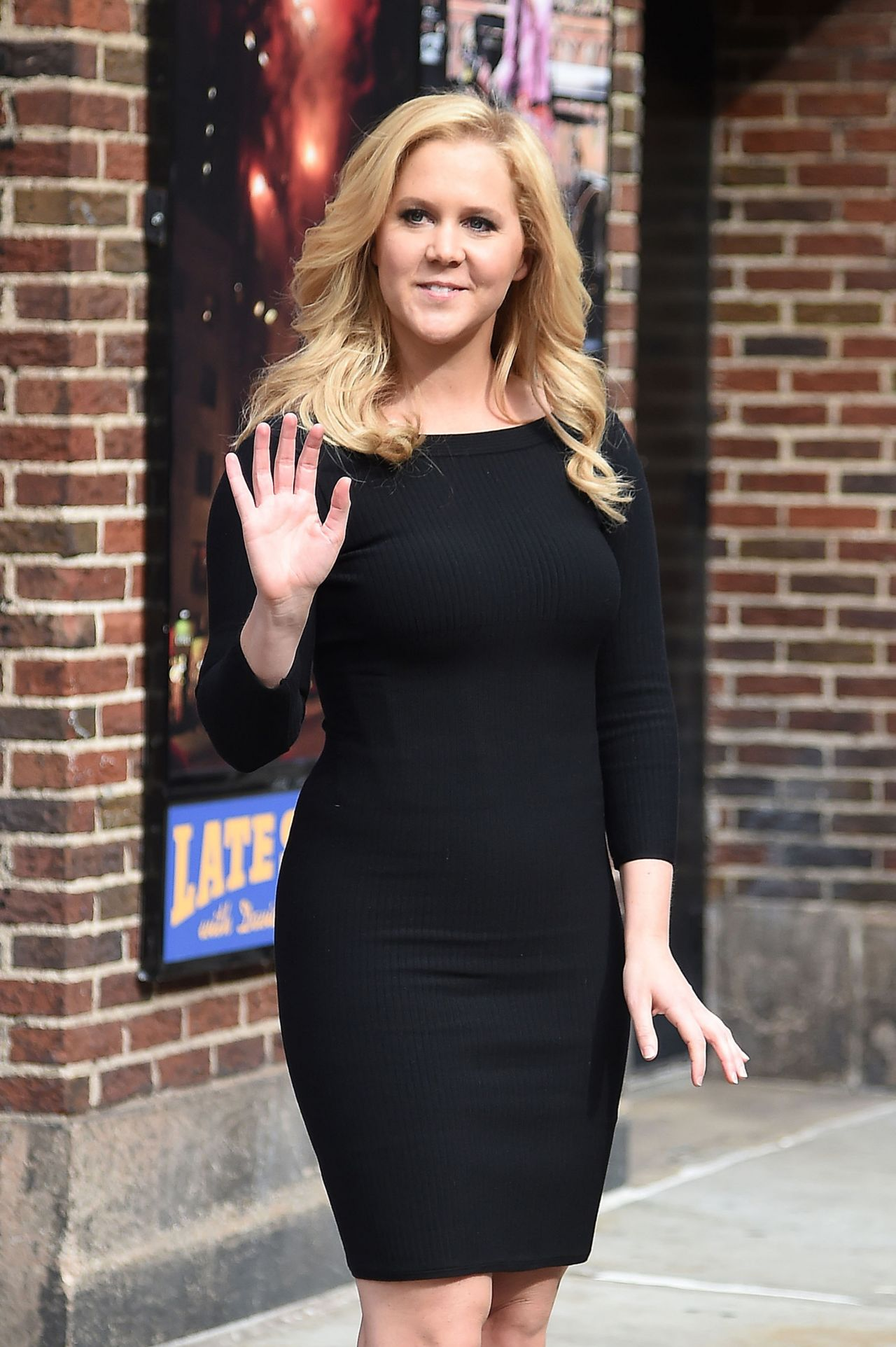 Amy Schumer After David Letterman Show In New York City