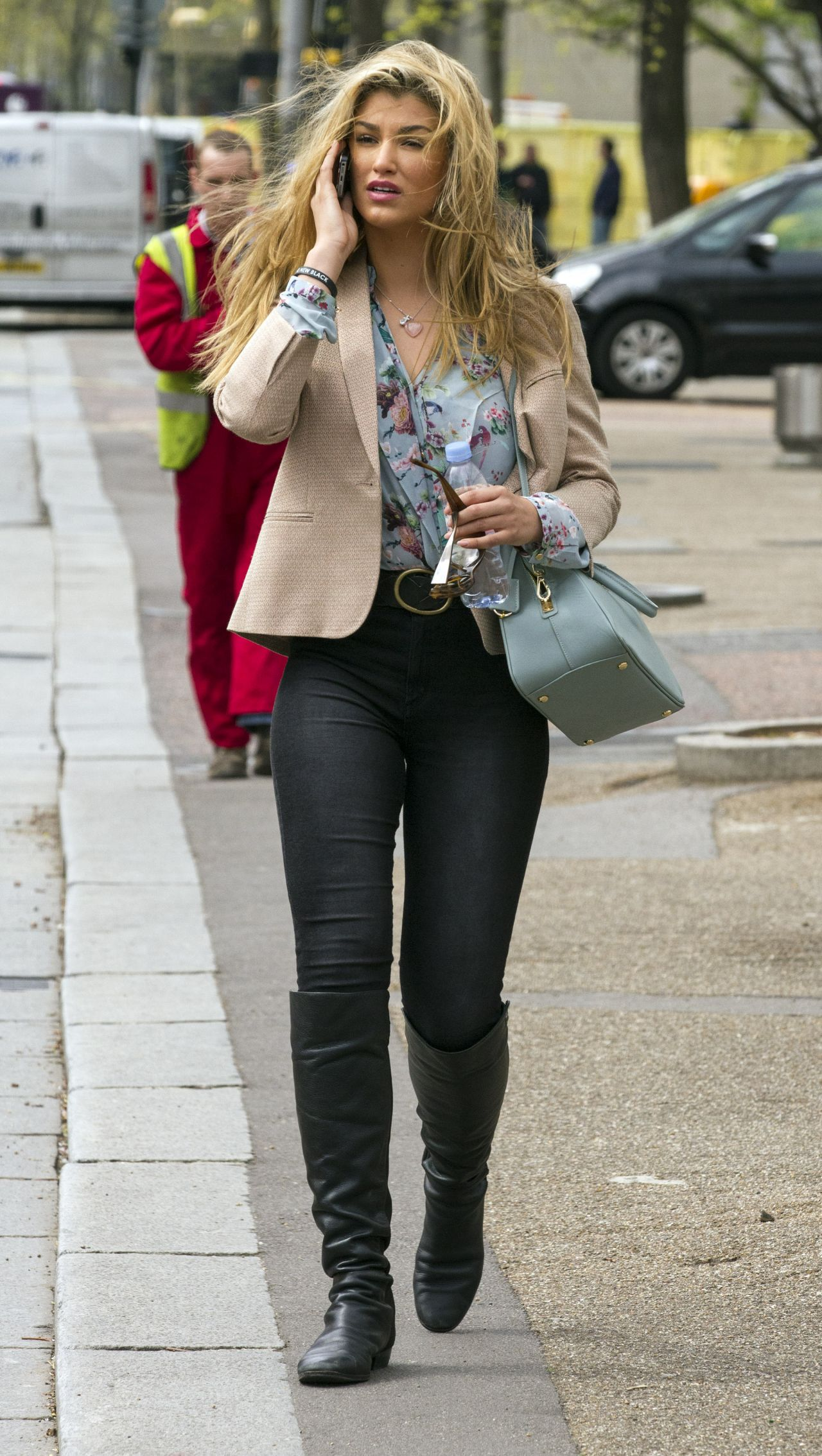 Amy Willerton Casual Style - Leaving the ITV London Studios - April 2014
