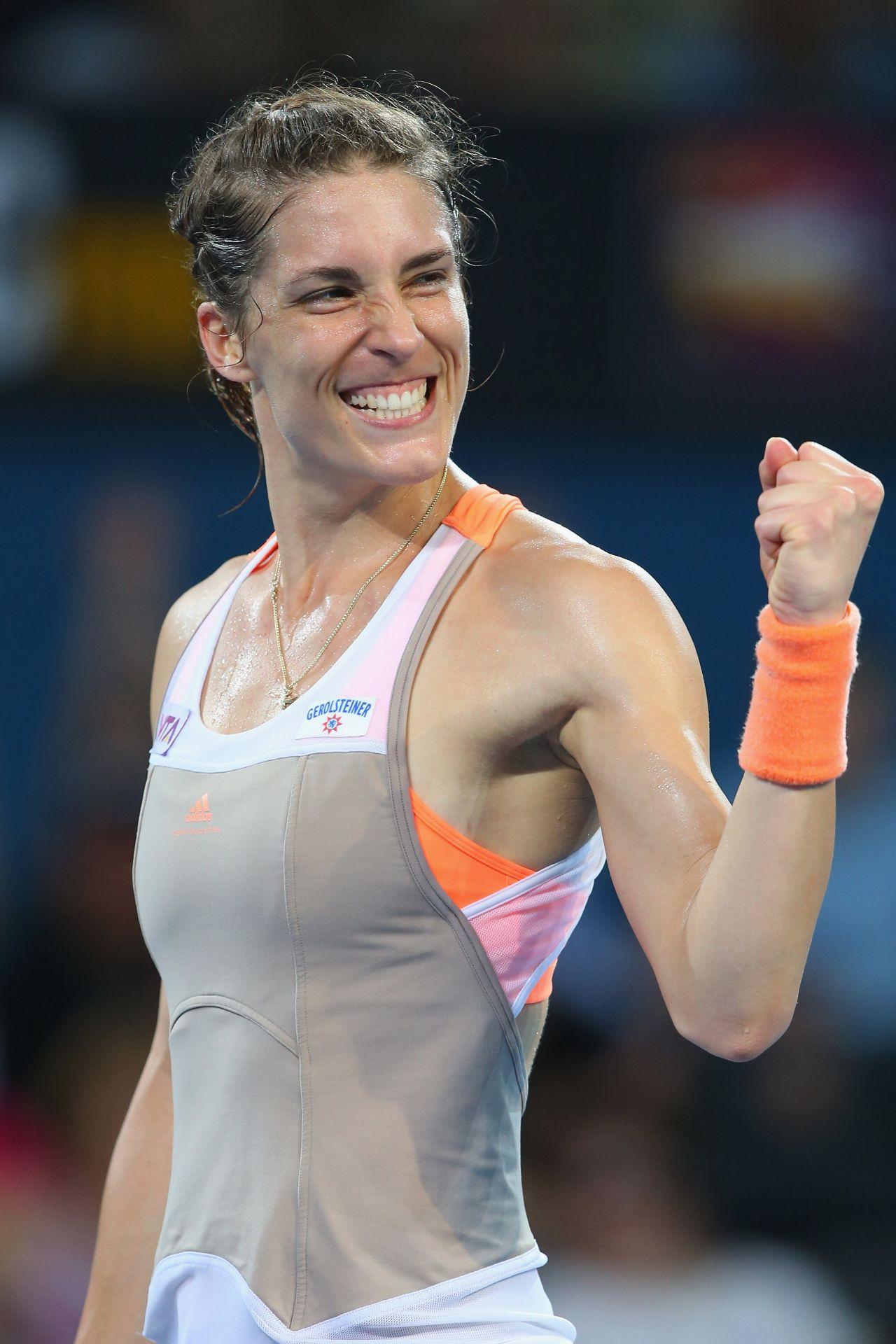 Andrea Petkovic - Brisbane International - WTA 2014 • CelebMafia