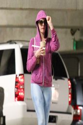 Anne Hathaway in Tights Candids - April 2014