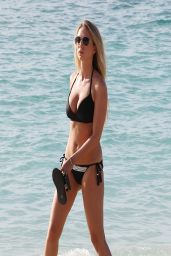 April Summers Bikini Candids - at the Beach in Barbados - March 2014