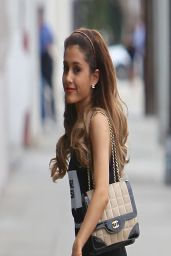 Ariana Grande in Tights – Going to a Recording Studio in LA - April 2014