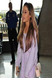 Ariana Grande Show Legs at Washington DC Airport - April 2014