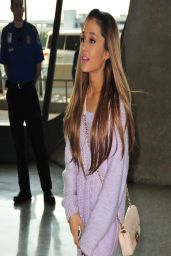 Ariana Grande Show Legs at Washington DC Airport - April 2014