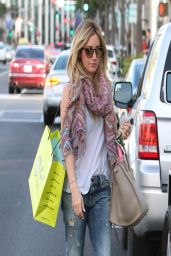 Ashley Tisdale Casual Style - Shopping at Planet Blue in Los Angeles - April 2014