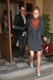 Ashley Tisdale - Leaving RivaBella Restaurant in West Hollywood