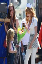 Bella Thorne - Filming a Music Video in Los Angeles - April 2014