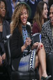 Beyonce Knowles - Brooklyn Nets Basketball Game - April 2014