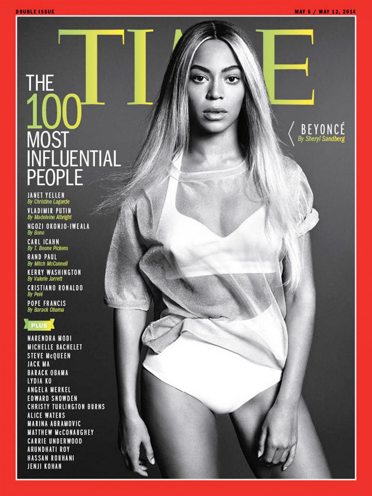 Beyonce Knowles - Time Magazine May 5th, 2014 Cover