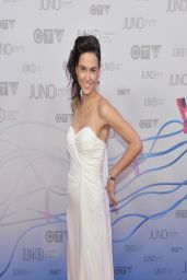 Brandi Disterheft on Red Carpet - 2014 Juno Awards in Winnipeg