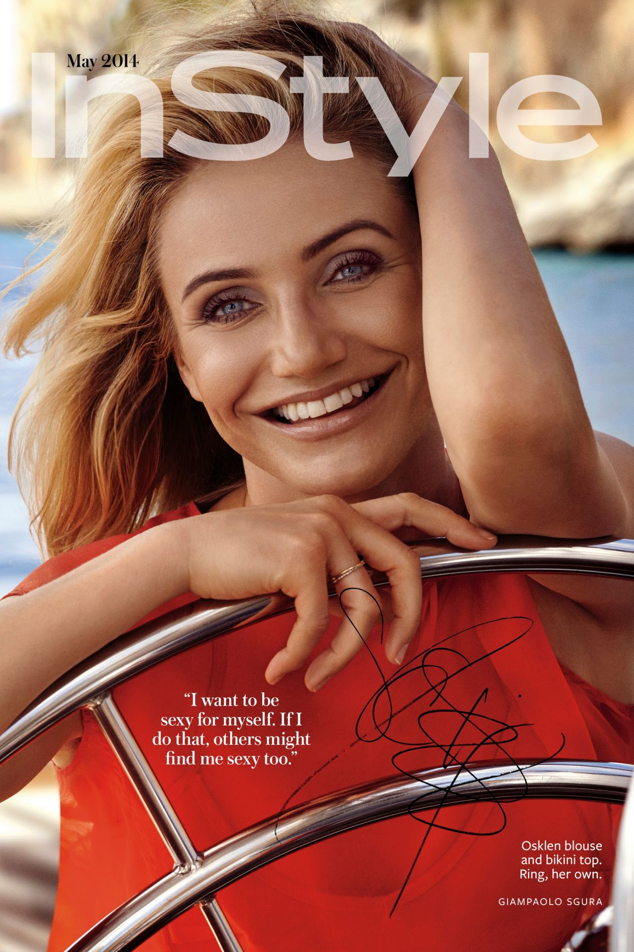 cameron diaz instyle magazine may 2014 issue. Black Bedroom Furniture Sets. Home Design Ideas