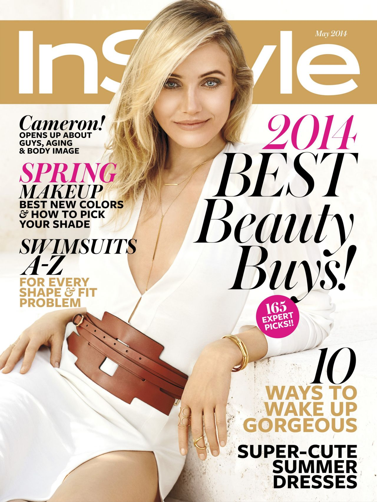 Cameron Diaz Instyle Magazine May 2014 Issue