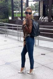 Carmen Electra in Tight Jeans - Left a LA Studio - April 2014