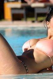 Casey Batchelor in a Bikini by the Pool - April 2014