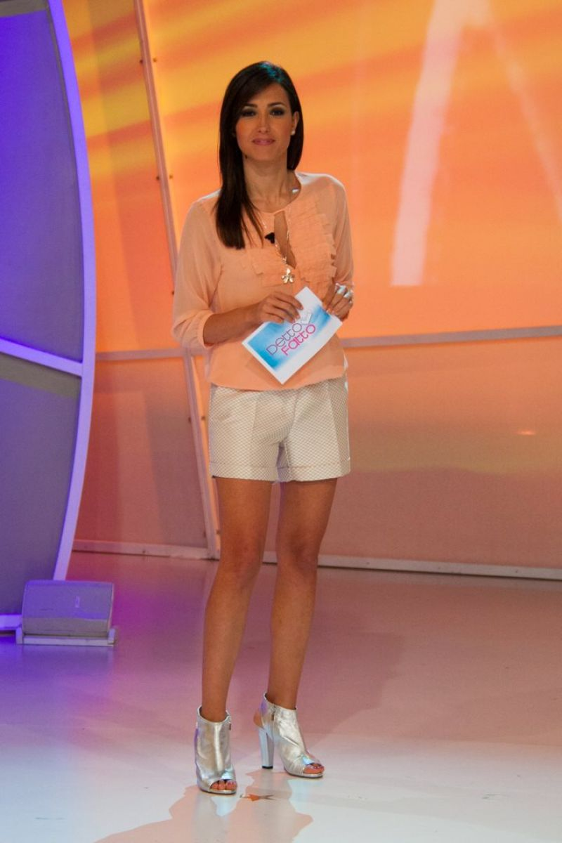 Caterina Balivo in Shorts - March 2014
