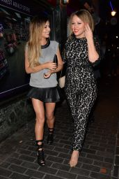 Cheryl Cole & Kimberley Walsh London Night out Style - April 2014