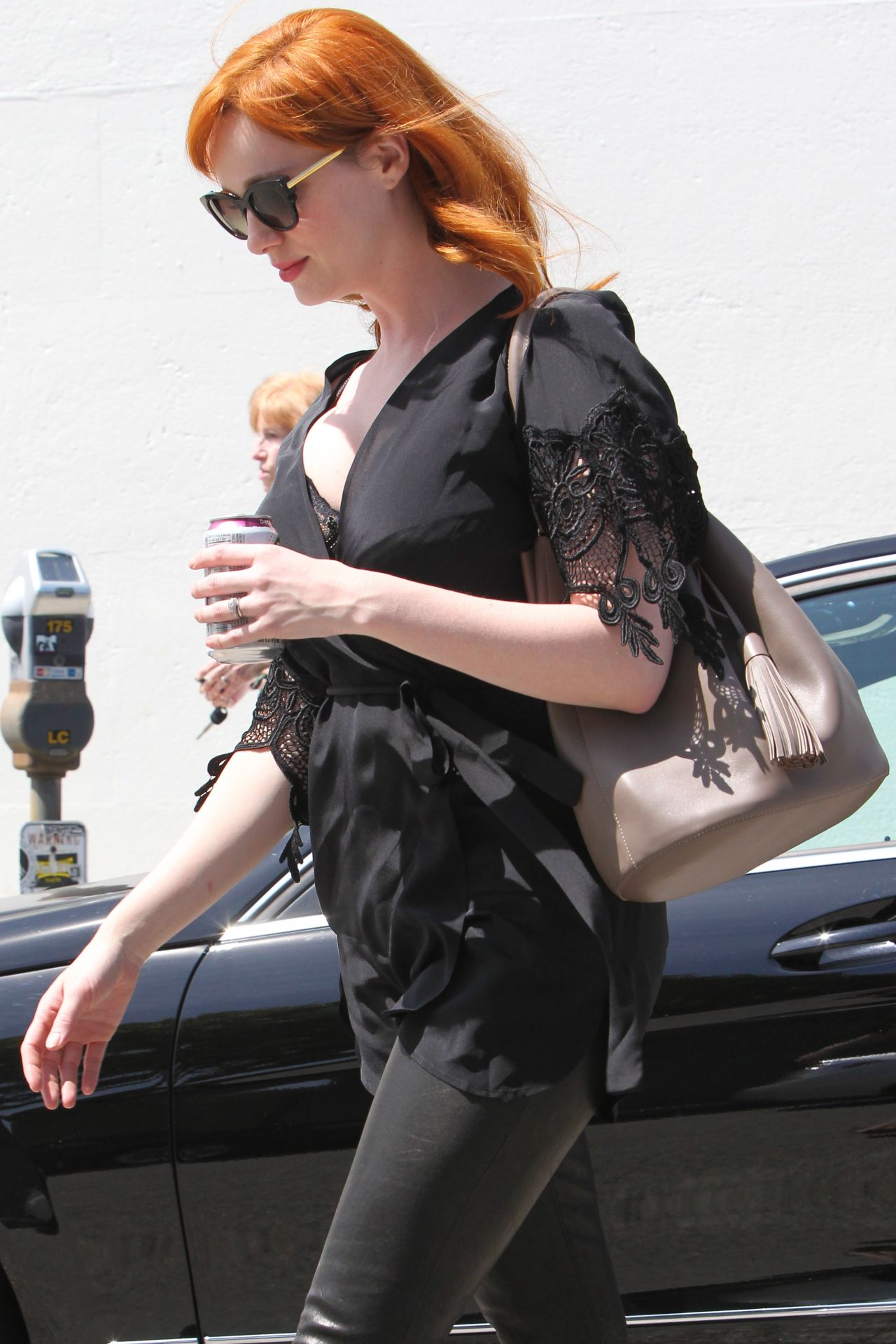 CHRISTINA HENDRICKS Out and About in New York - HawtCelebs