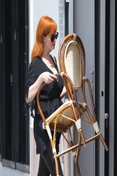 Christina Hendricks all in Black - Out Shopping in Los Angeles - April 2014