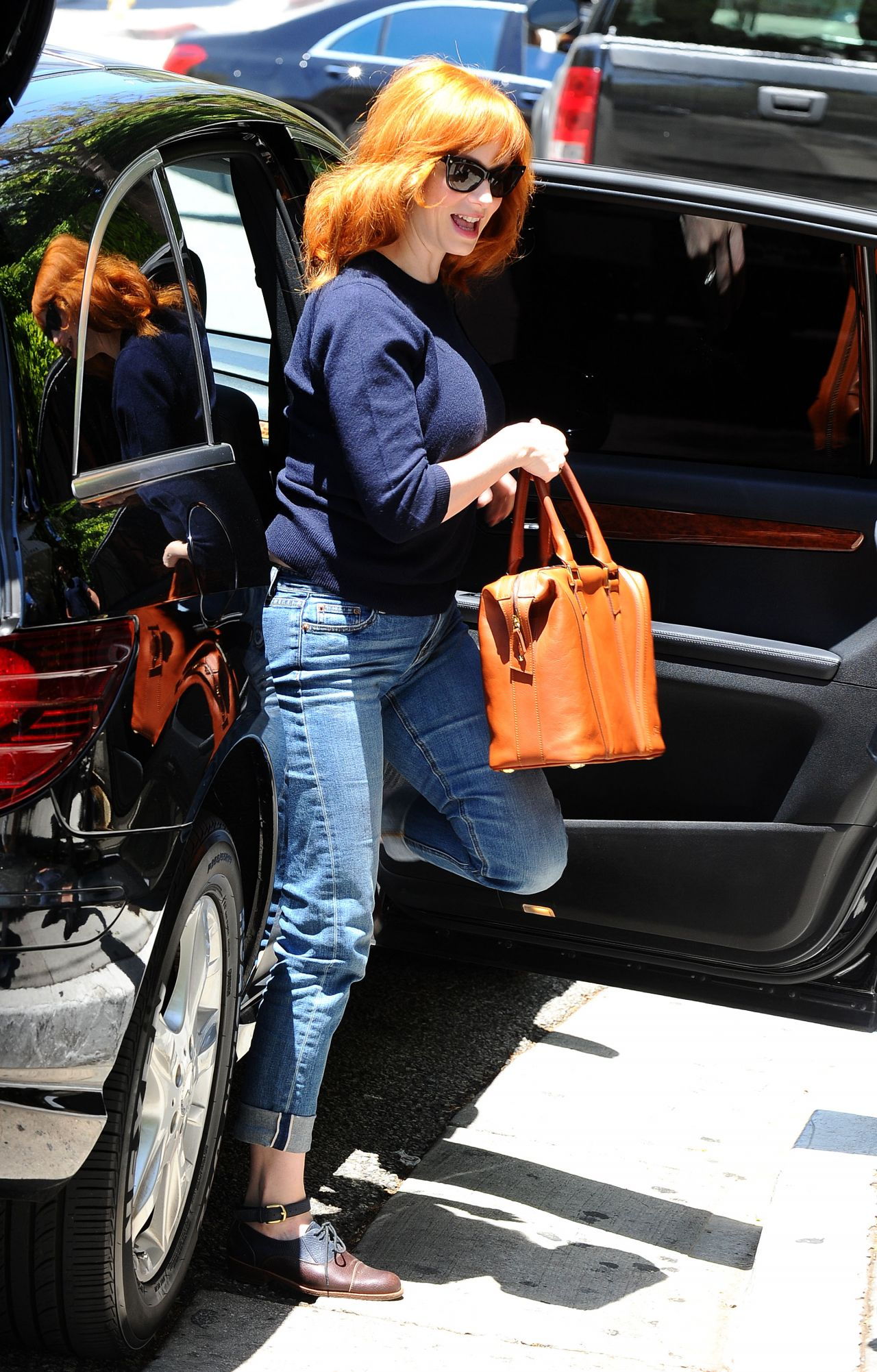 Christina Hendricks Street Style April 2014