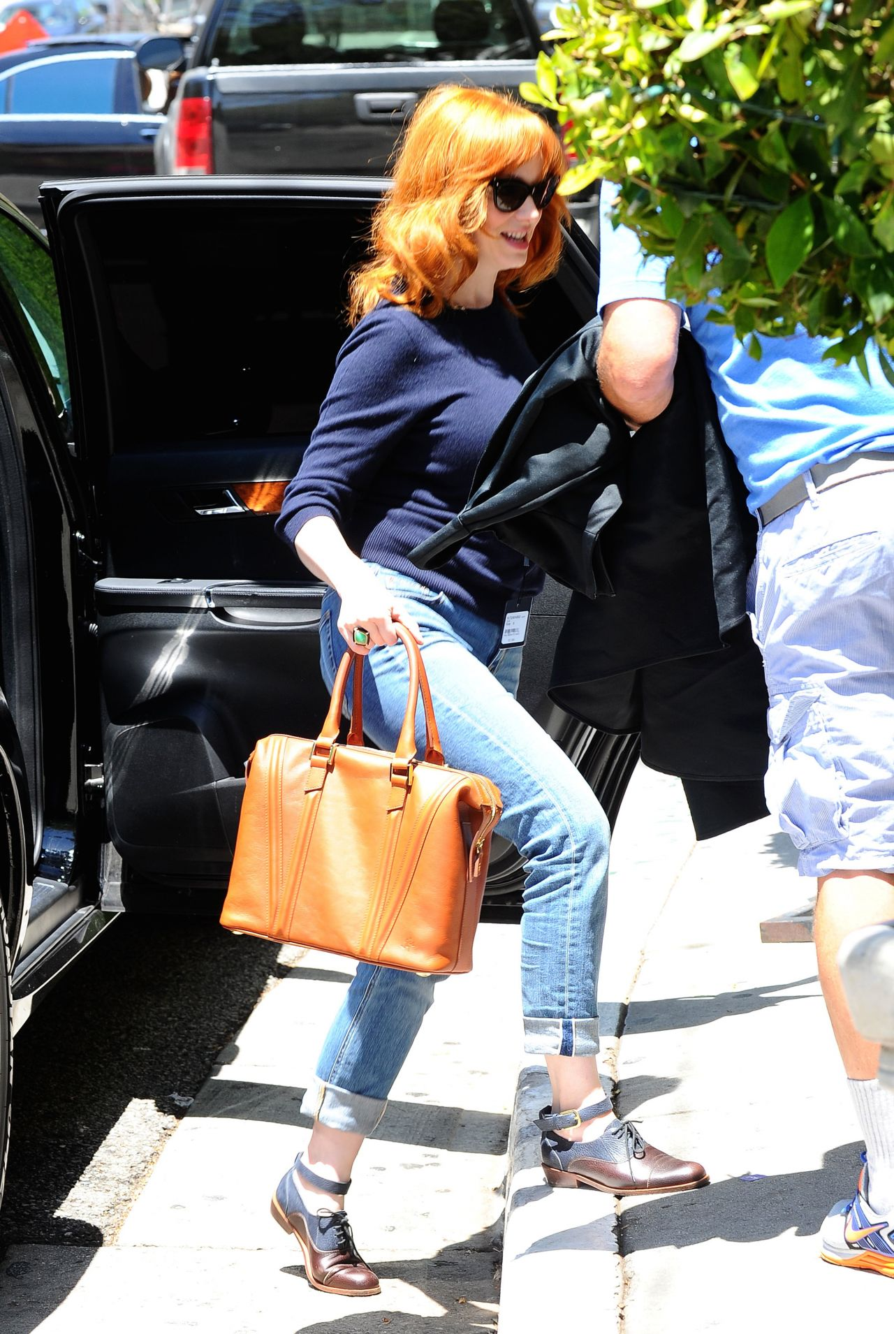 Christina Hendricks Street Style April 2014