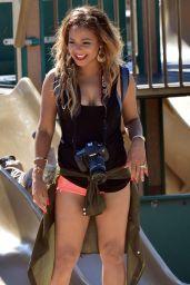 Christina Milian - Enjoying an Ice Cream on Venice Beach, Los Angeles - April 2014
