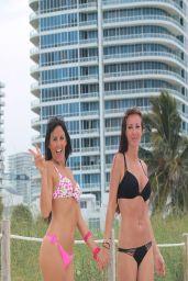 Claudia Romani in Bikini - Photoshoot for Kustom Paddle - Miami, April 2014