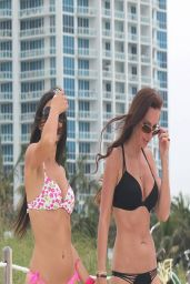 Claudia Romani in Bikini - Photoshoot for Kustom Paddle - Miami, April 2014