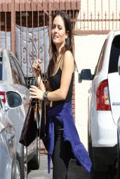 Danica McKellar - DWTS Rehearsal in Los Angeles - April 2014