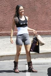 Danica McKellar in Shorts at DWTS Rehearsal in Los Angeles - April 2014