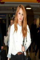 Debby Ryan Candis From LAX Airport - March 2014
