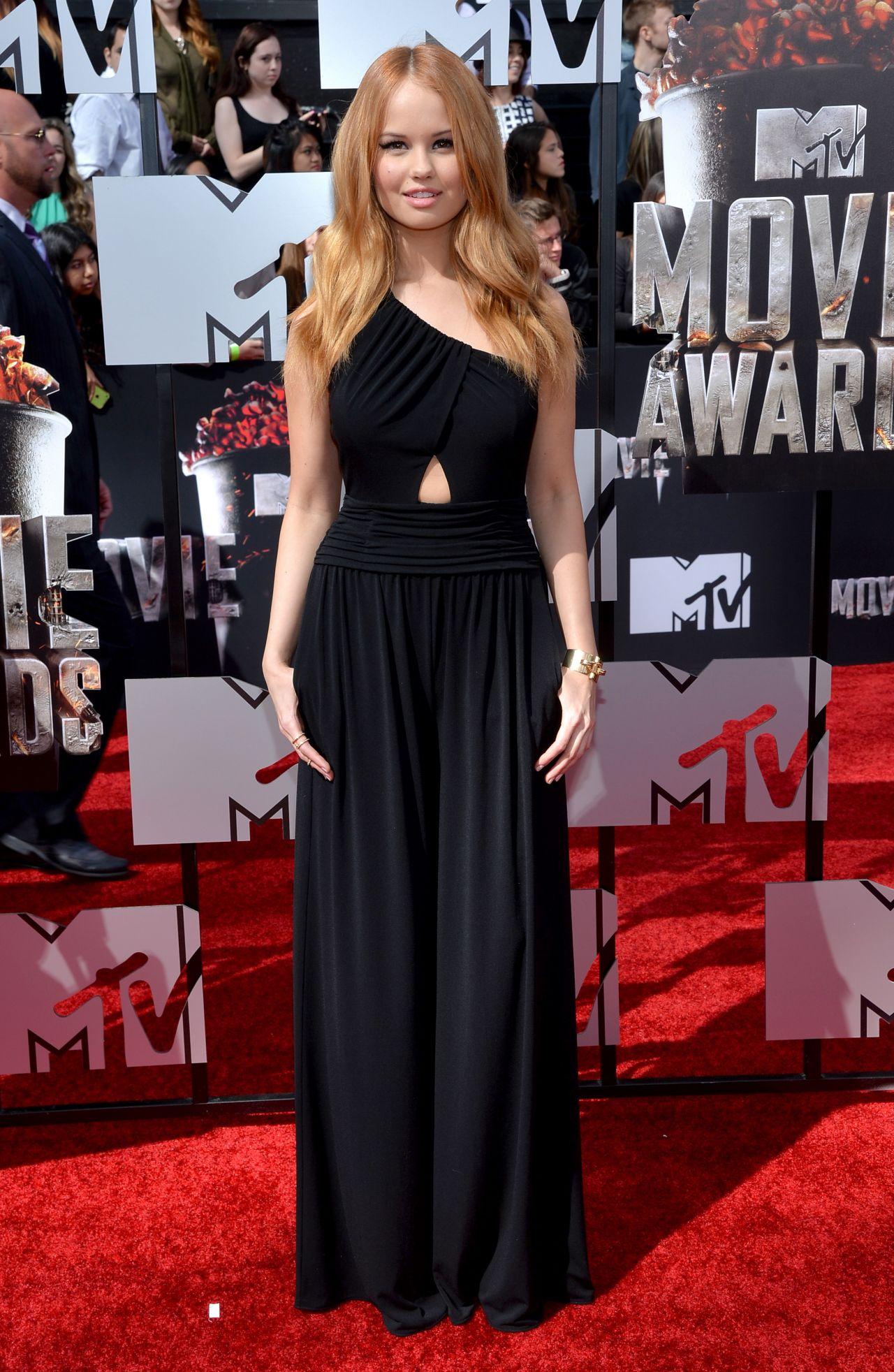 Debby Ryan Wearing Rachel Zoe Jumpsuit - 2014 MTV Movie ...