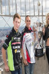 Dianna Dahlgren - AMA Supercross Stars visit The Empire State Building - April 2014