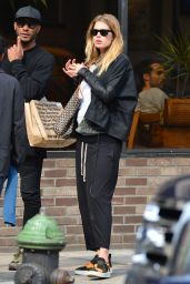 Doutzen Kroes Street Style - Out in Soho in New York City - April 2014