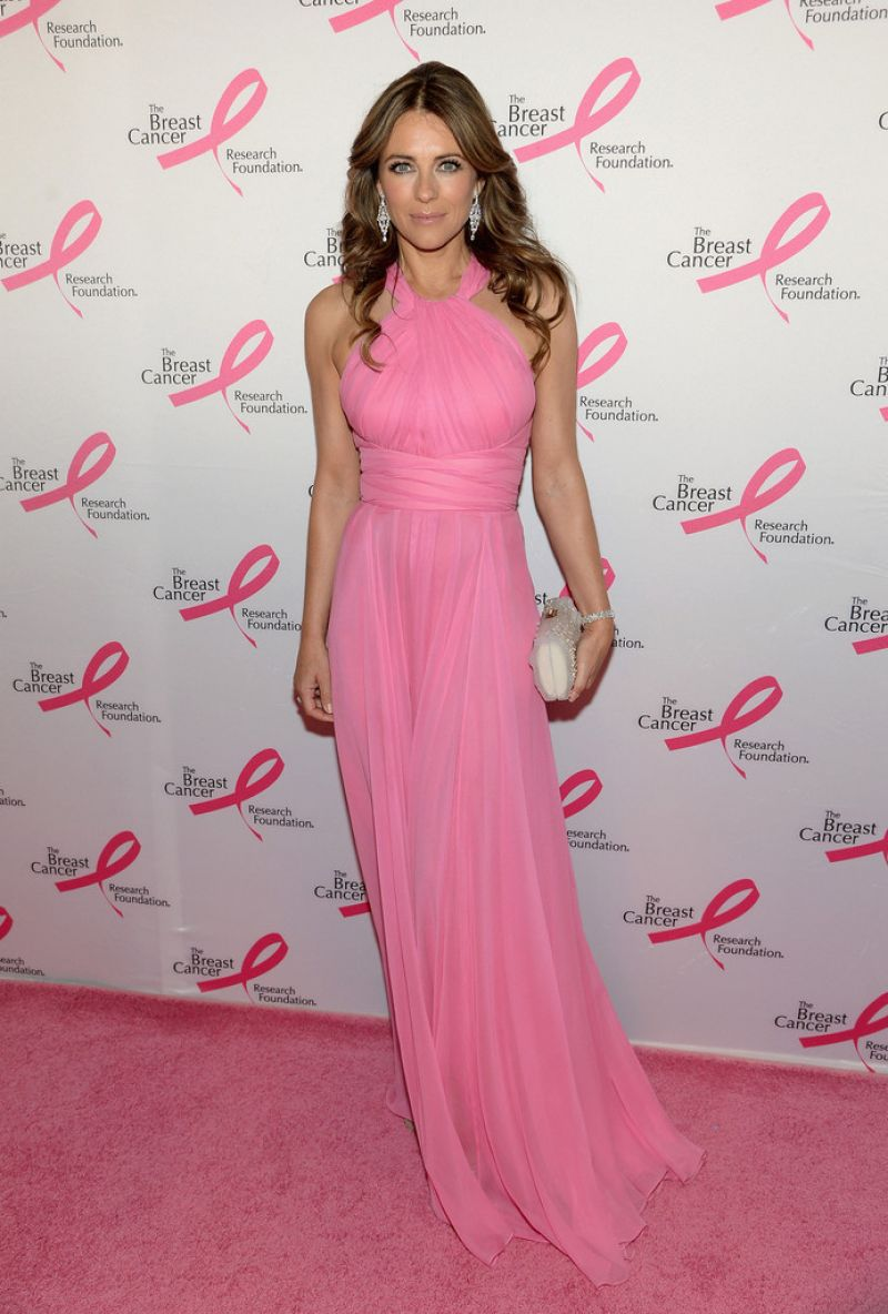 Elizabeth Hurley in Versace Gown - The Breast Cancer Foundation