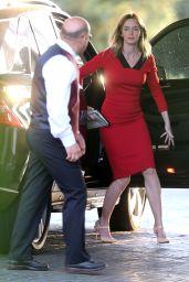 Emily Blunt at Brian Baumgartner Wedding in Los Angeles
