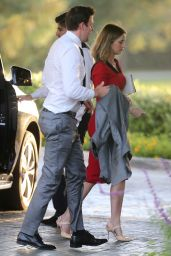 Emily Blunt at Brian Baumgartner Wedding in Los Angeles