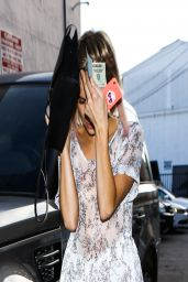 Emma Roberts Feeling Camera Shy - Out in West Hollywood - April 2014
