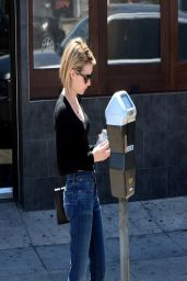 Emma Roberts Street Style - Shopping in West Hollywood - April 2014