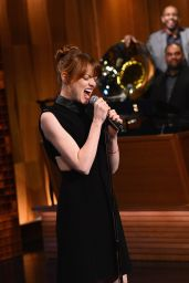 Emma Stone at The Tonight Show with Jimmy Fallon - April 2014