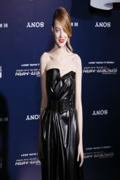 Emma Stone Wearing Lanvin Leather Dress -