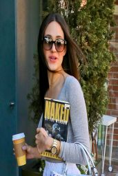 Emmy Rossum Casual Style - Holding a Book