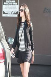 Emmy Rossum is Leggy in Short Shorts - Shopping at Carolina Herrera in West Hollywood - April 2014