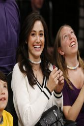Emmy Rossum - LA Lakers Basketball Game - April 2014