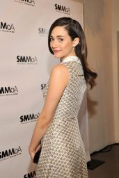 Emmy Rossum Wearing Tory Burch Dress - The Santa Monica Museum Of Art