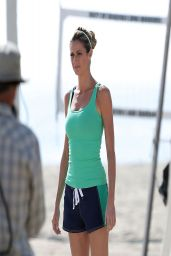 Erin Andrews - Films a Scenes for a Trubiotics - One a Day Vitamin Commercial - April 2014