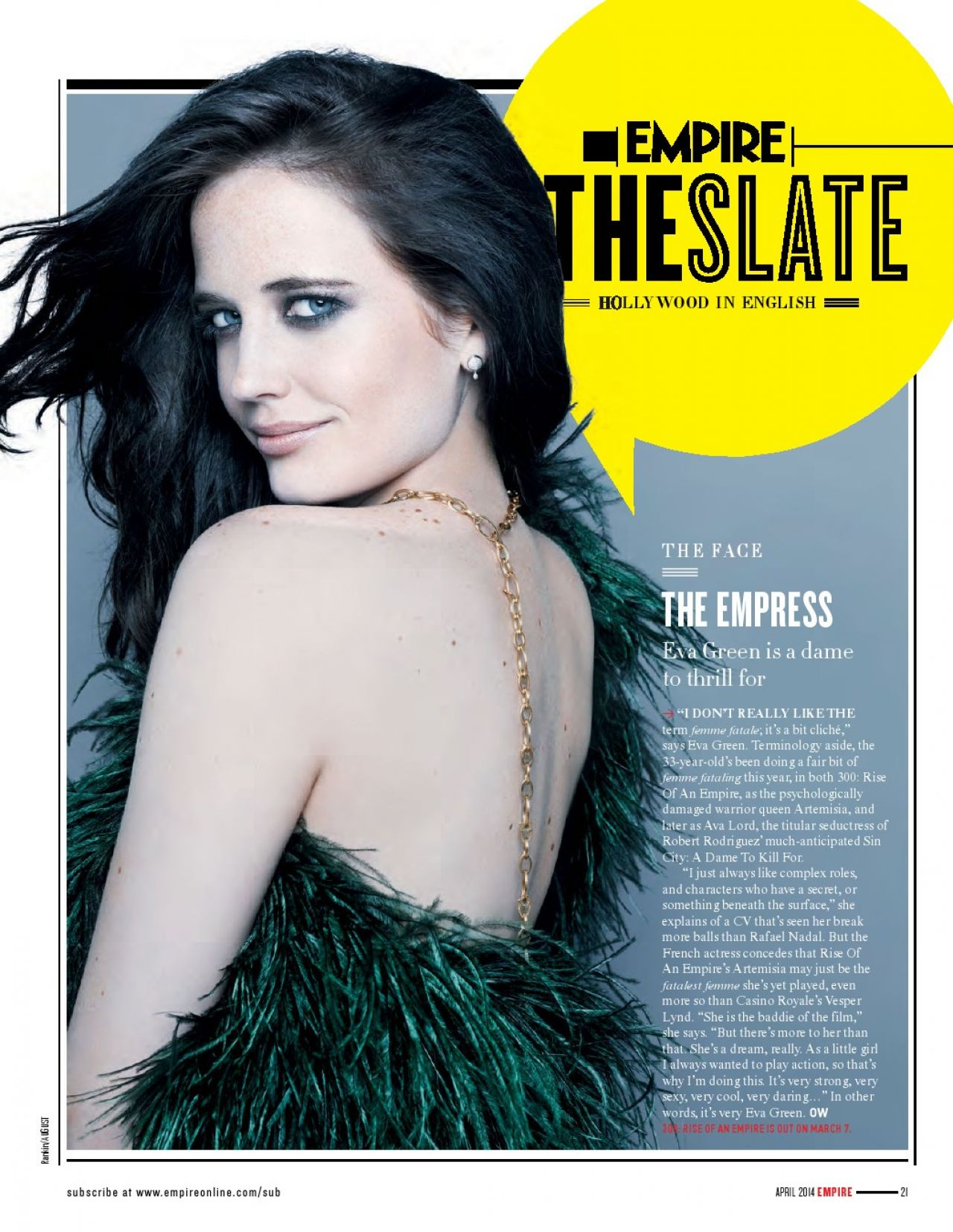 Eva Green - Tattoo Empire Magazine April 2014 Issue