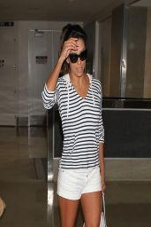 Eva Longoria Shows Off Her Legs - LAX Airport - April 2014