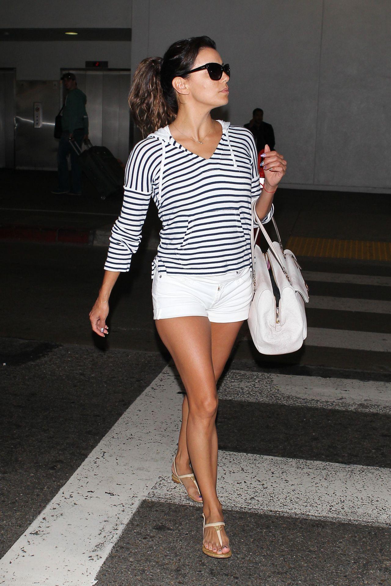 Eva Longoria Shows Off Her Legs - LAX Airport - April 2014